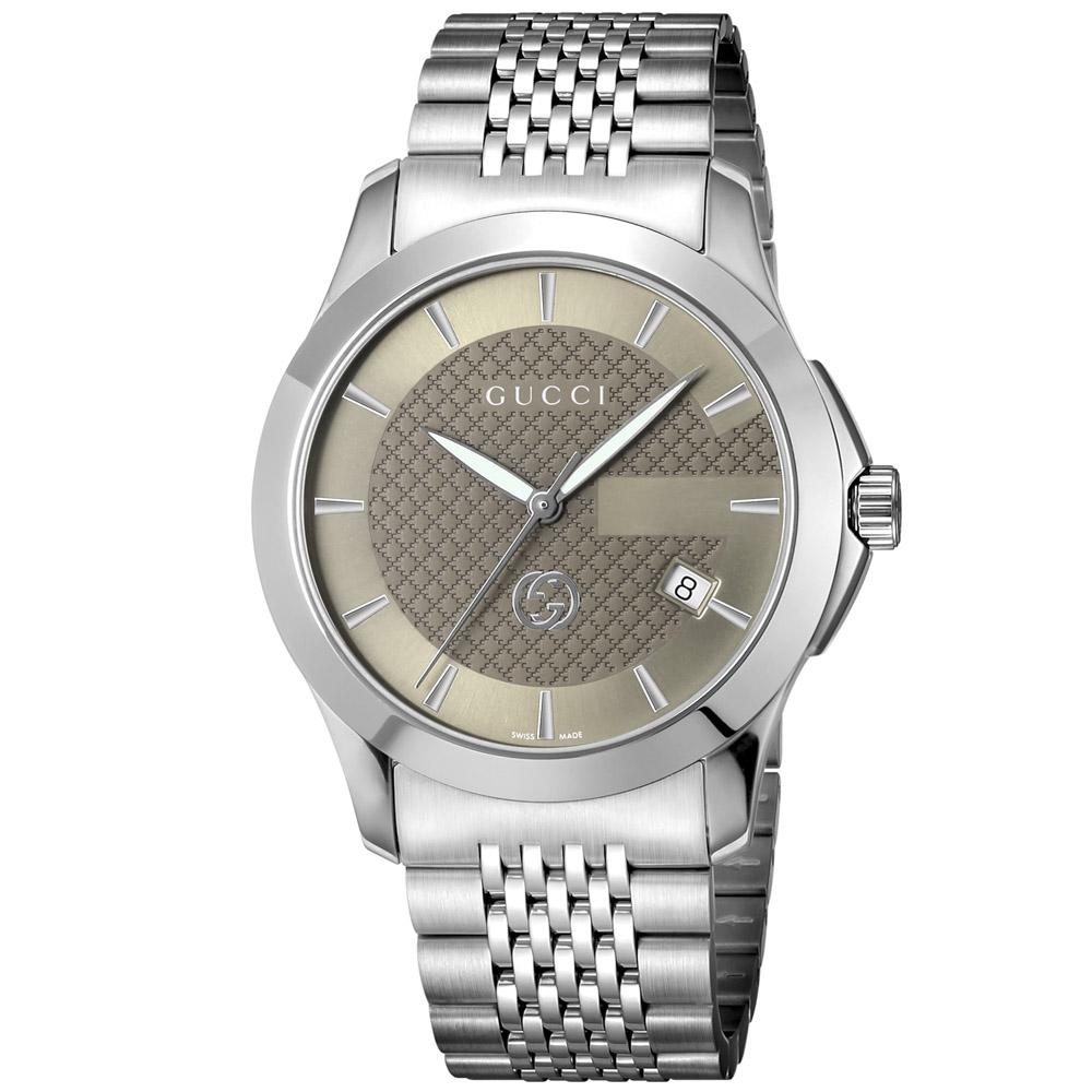 【5月8日-11日★5%OFFクーポン配布中】グッチ GUCCI 腕時計 Gタイムレス ステンレスベルトMウォッチ YA1264107  ギフトラッピング無料 ラッキーシール対応