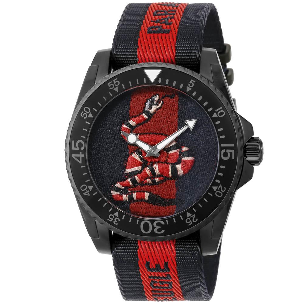 グッチ GUCCI 腕時計 DIVE ナイロンベルトMウォッチ YA136214  ギフトラッピング無料 ラッキーシール対応
