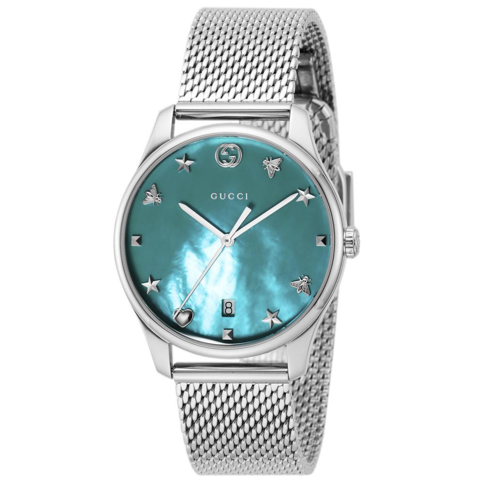 【7月19日-26日限定★エントリーでポイント5倍】グッチ GUCCI 腕時計 G-TIMELESS SSメッシュM YA1264039  ギフトラッピング無料