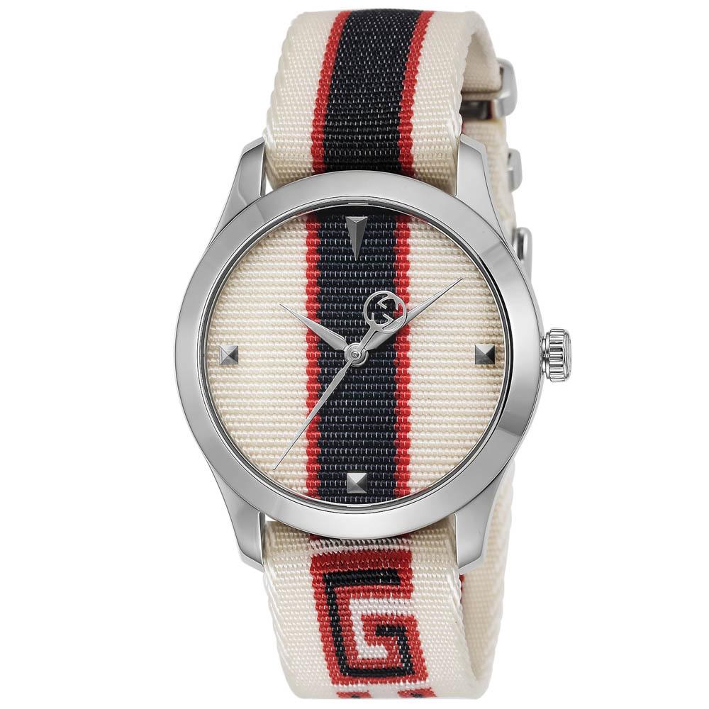 グッチ GUCCI 腕時計 G-TIMELESS ナイロンベルトM YA1264071A  ギフトラッピング無料 ラッキーシール対応