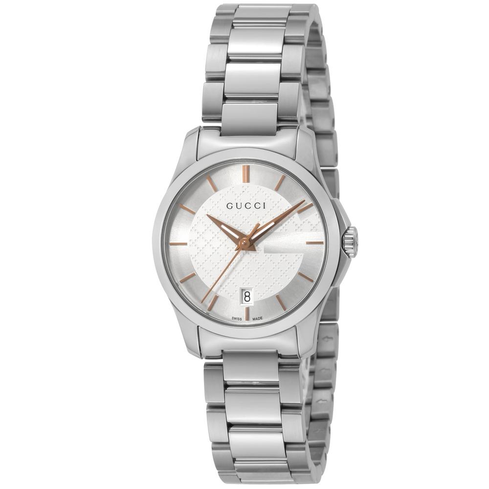 グッチ GUCCI 腕時計 Gタイムレス ラウンドステンLウォッチ YA126523  ギフトラッピング無料 ラッキーシール対応