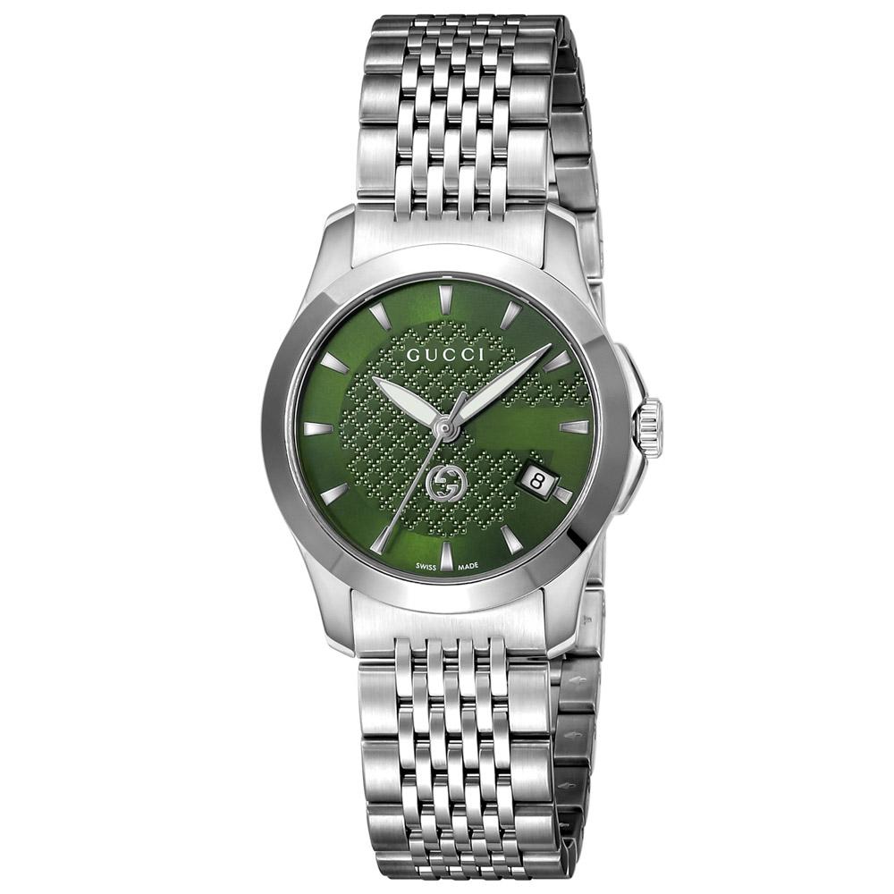 【7月19日-26日限定★エントリーでポイント5倍】グッチ GUCCI 腕時計 Gタイムレス ステンレスベルトLウォッチ YA1265008  ギフトラッピング無料