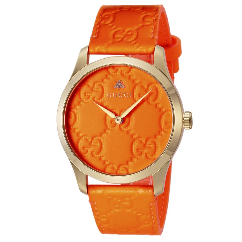 グッチ GUCCI 腕時計 GタイムレスラウンドキャンバスLウォッチ YA1264116  ギフトラッピング無料 ラッキーシール対応