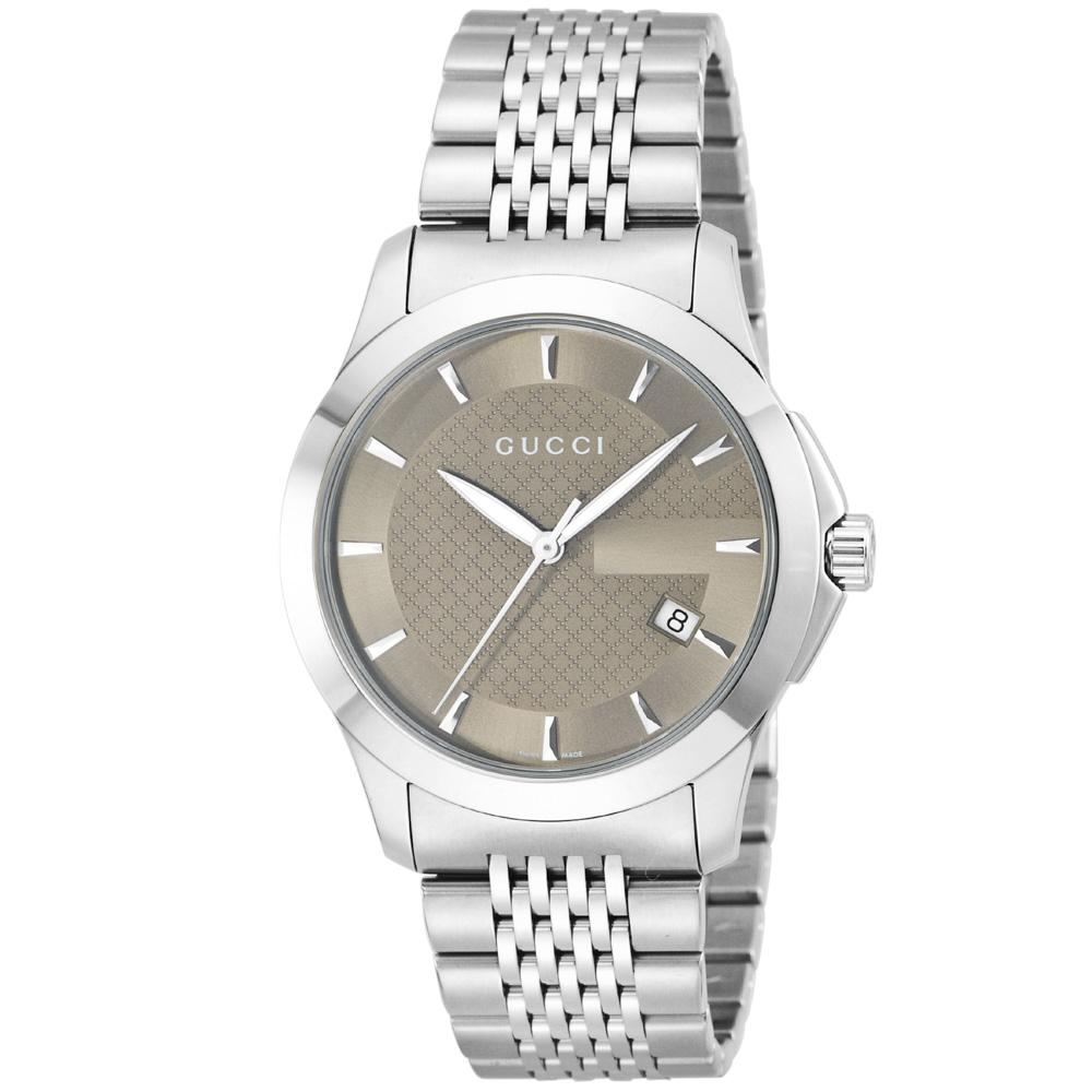 グッチ GUCCI 腕時計 ラウンドデイデイトステンレスMウォッチ YA126406  ギフトラッピング無料