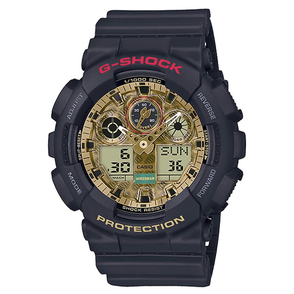 ジーショック G-SHOCK 腕時計 MANEKINEKO デジタルMウォッチGA-100TMN-1AJR  ギフトラッピング無料 ラッキーシール対応