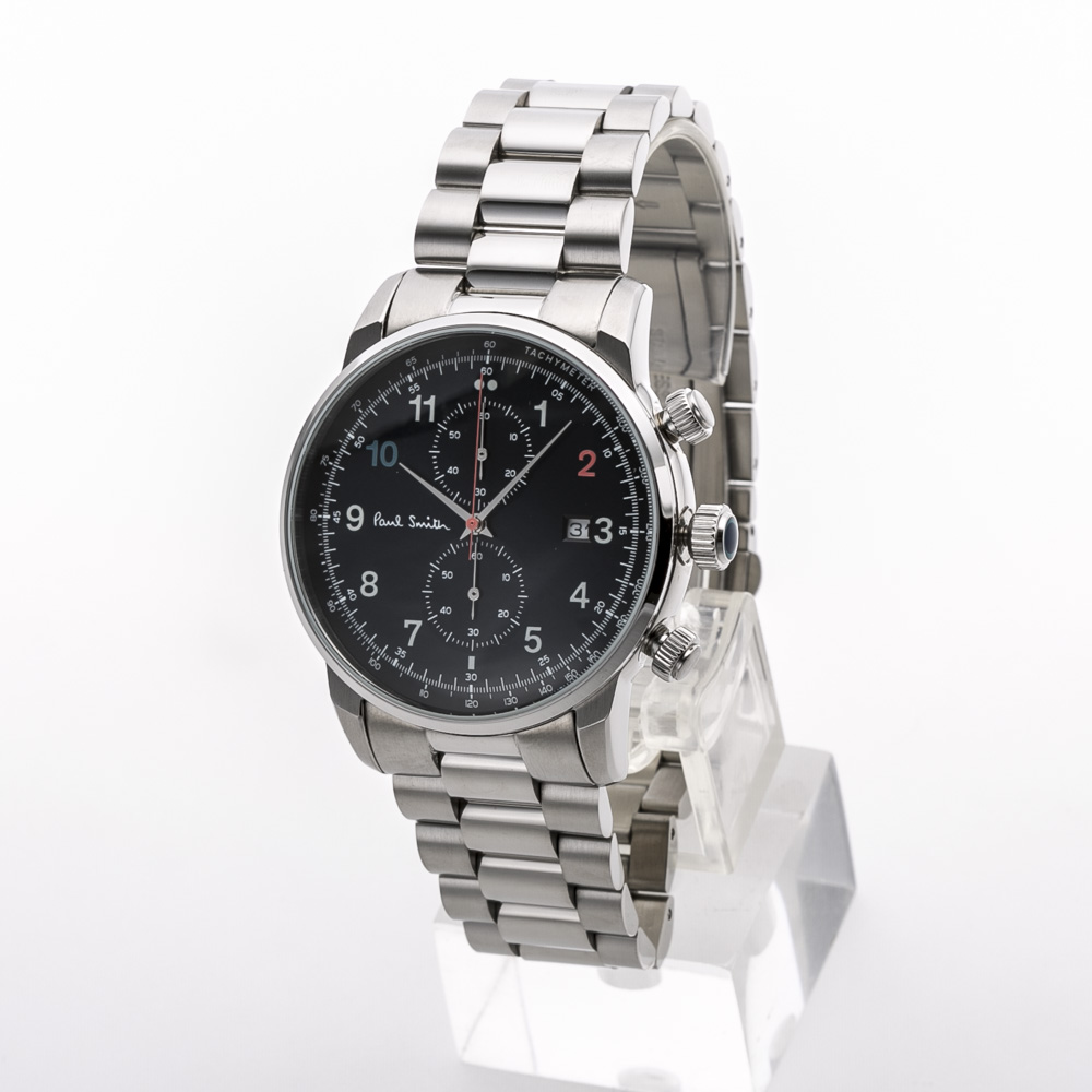 ポールスミス Paul Smith 腕時計 BLOCK 43mmクロノステンMウォッチ P10143  ギフトラッピング無料 ラッキーシール対応