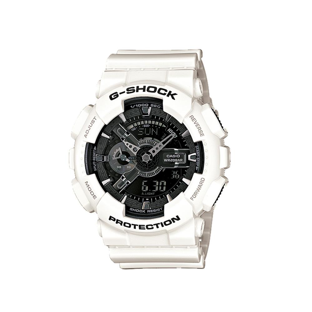 ジーショック G-SHOCK 腕時計 (whiteandblack)Mウォッチ GA-110GW-7AJF  ギフトラッピング無料 ラッキーシール対応