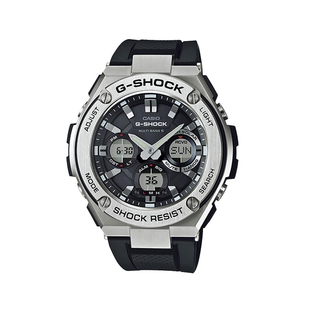 3月13日-14日限定 クーポン配布中 ジーショック 永遠の定番 G-SHOCK 腕時計 G-STEELアナデジMウォッチ 店舗 ギフトラッピング無料 GST-W110-1AJF