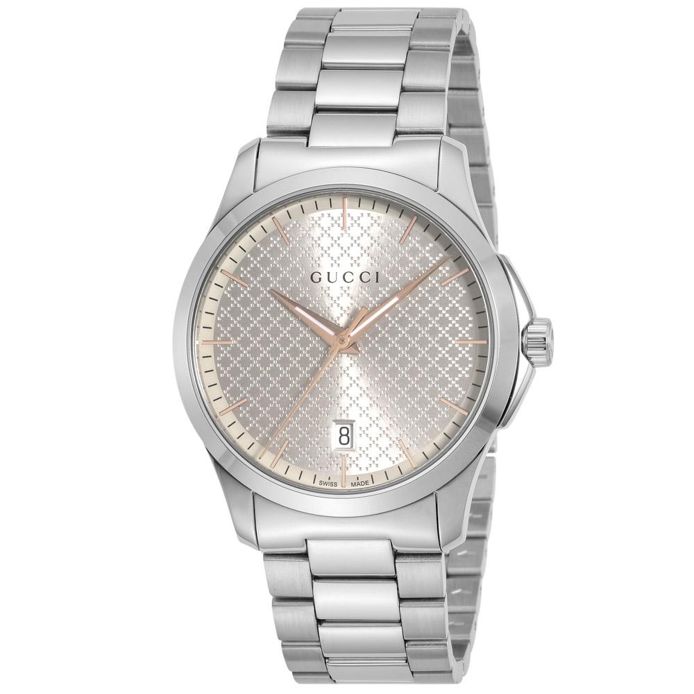 グッチ GUCCI 腕時計 GタイムレスラウンドステンMウォッチ YA1264052  ギフトラッピング無料 ラッキーシール対応