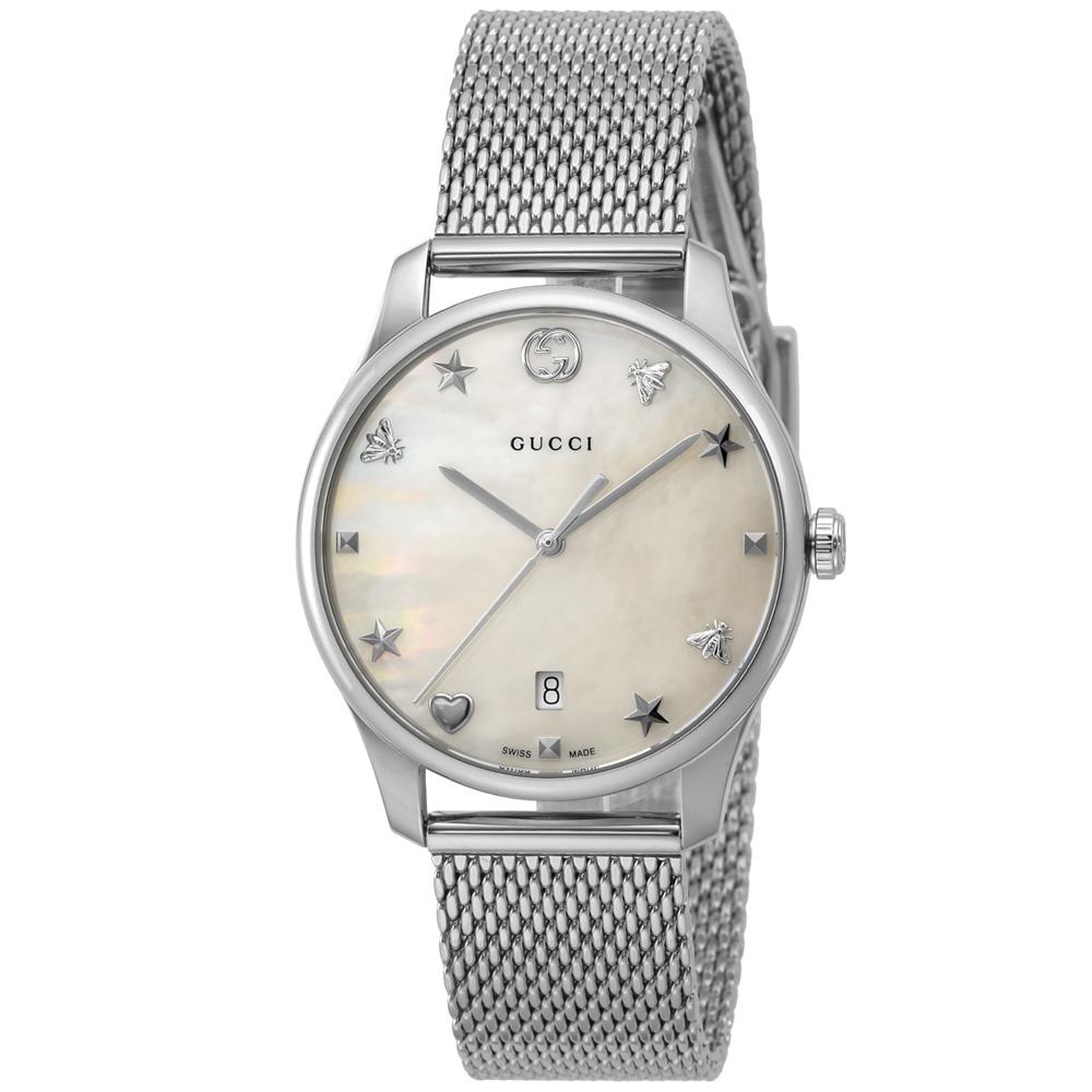 グッチ GUCCI 腕時計 GタイムレスラウンドSSメッシュLウォッチ YA1264040  ギフトラッピング無料 ラッキーシール対応