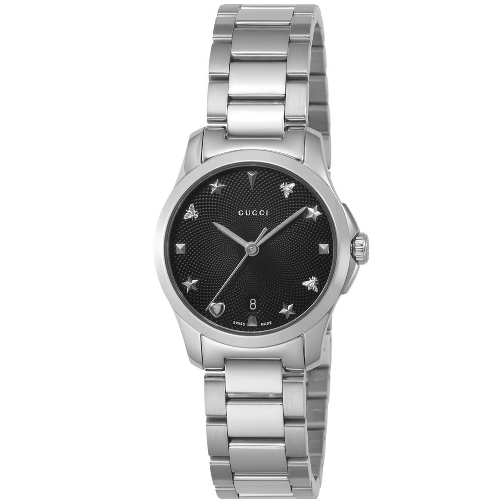 GUCCI グッチ 腕時計 GタイムレスラウンドステンレスLウォッチ YA126573/SV/BK/Q シルバー 0 ギフトラッピング無料 ラッキーシール対応