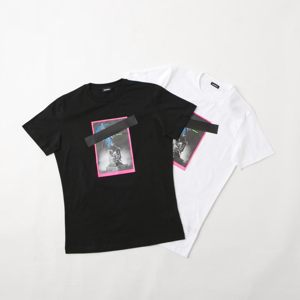 ディーゼル DIESEL メンズトップス DIE・20S 胸テープグラッフィックTシャツ SEEL/BASU/01  ギフトラッピング無料 ラッキーシール対応