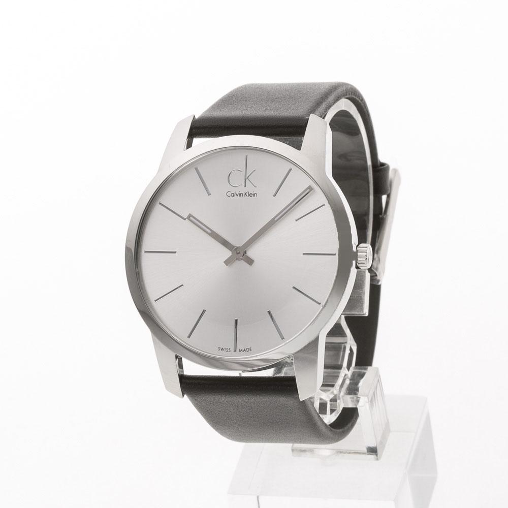 カルバンクライン Calvin Klein 腕時計 CITYラウンドレザーベルトMウォッチ K2G211C6  ギフトラッピング無料 ラッキーシール対応