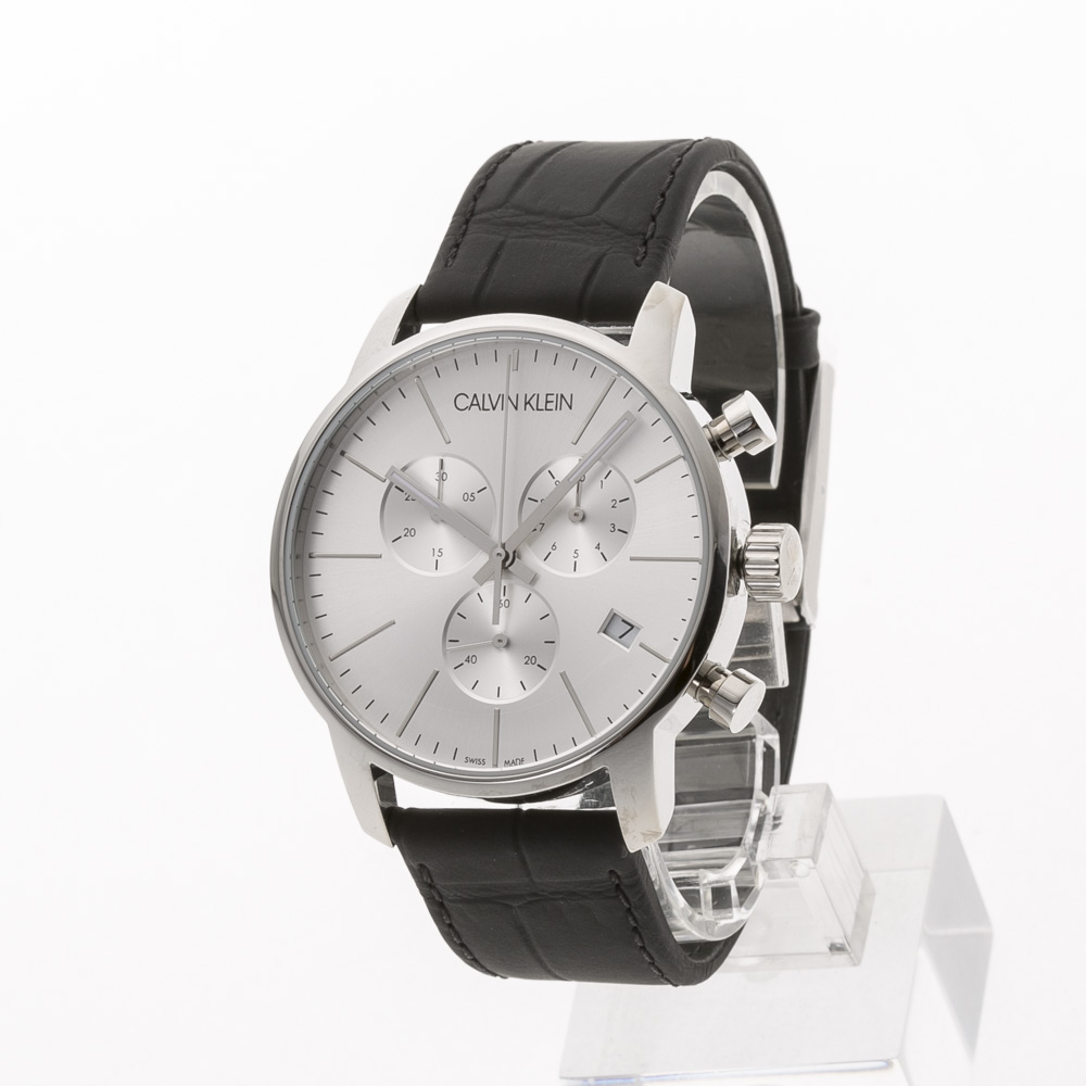 カルバンクライン Calvin Klein 腕時計 CITYラウンドクロノレザーMウォッチ K2G271C6  ギフトラッピング無料 ラッキーシール対応