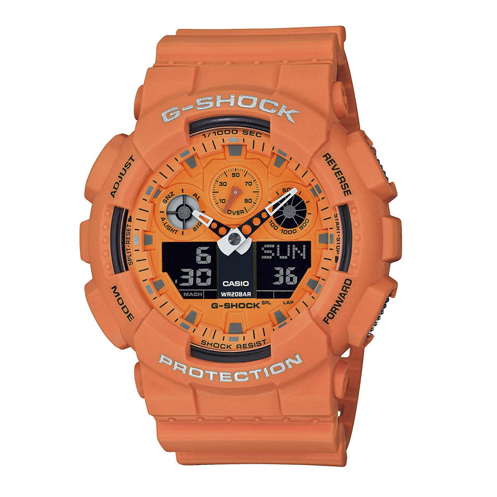 ジーショックカシオ G-SHOCK CASIO 腕時計 100シリーズ アナデジ Mウォッチ GA-100RS-4AJF  ギフトラッピング無料 ラッキーシール対応