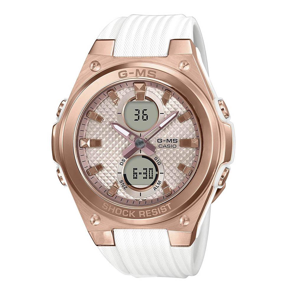ベイビージーカシオ BABY-G CASIO 腕時計 G-MS アナデジLウォッチ MSG-C100G-7AJF QZ ホワイト/コンビ 0 ギフトラッピング無料 ラッキーシール対応