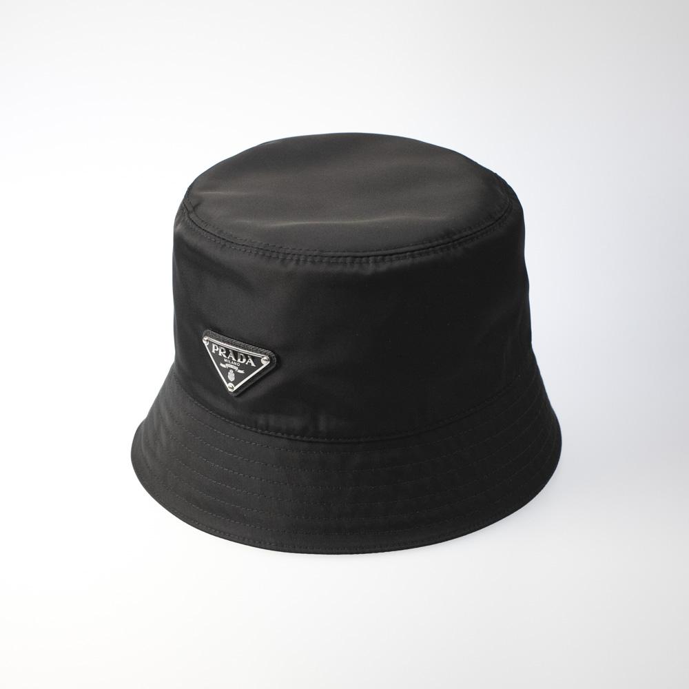 プラダ PRADA 帽子 サイドトライアングルロゴバケットハット 1HC137/2B15  ギフトラッピング無料 ラッキーシール対応:FIT HOUSE