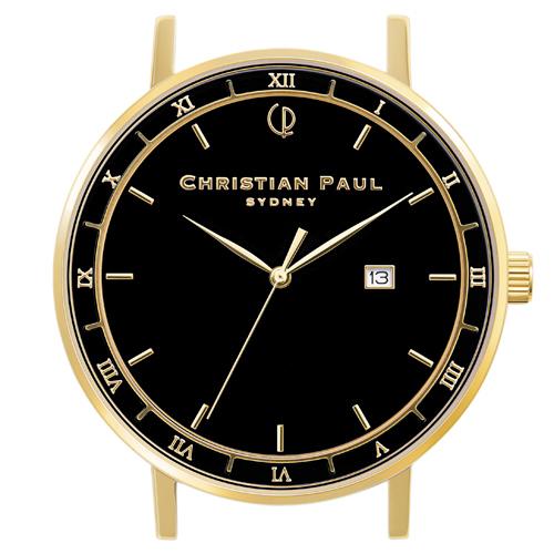 クリスチャンポール Christian Paul 腕時計ヘッド ALPHA 43mm L ベルト別売 ALP-BLKGLD43  ギフトラッピング無料 ラッキーシール対応