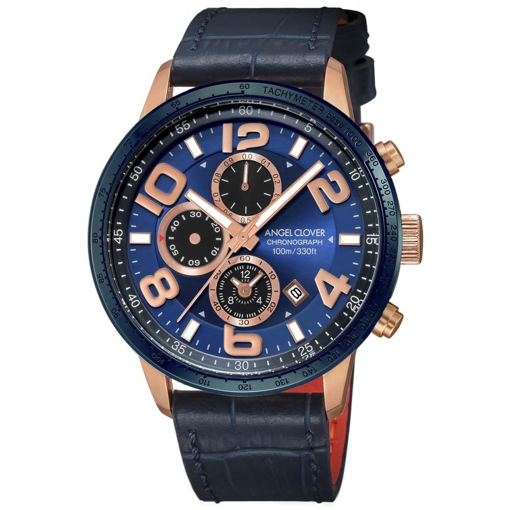 【7月19日-26日限定★エントリーでポイント5倍】エンジェルクローバー ANGEL CLOVER 腕時計 ACL・17A LUCE レザーベルトMウォッチ LU44PNV-NV  ギフトラッピング無料