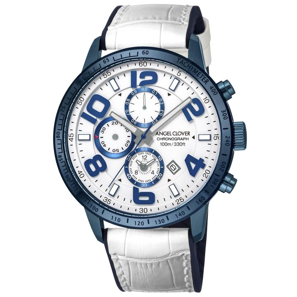 【7月19日-26日限定★エントリーでポイント5倍】エンジェルクローバー ANGEL CLOVER 腕時計 ACL・18S LUCE レザーベルトMウォッチ LU44BNV-WH  ギフトラッピング無料