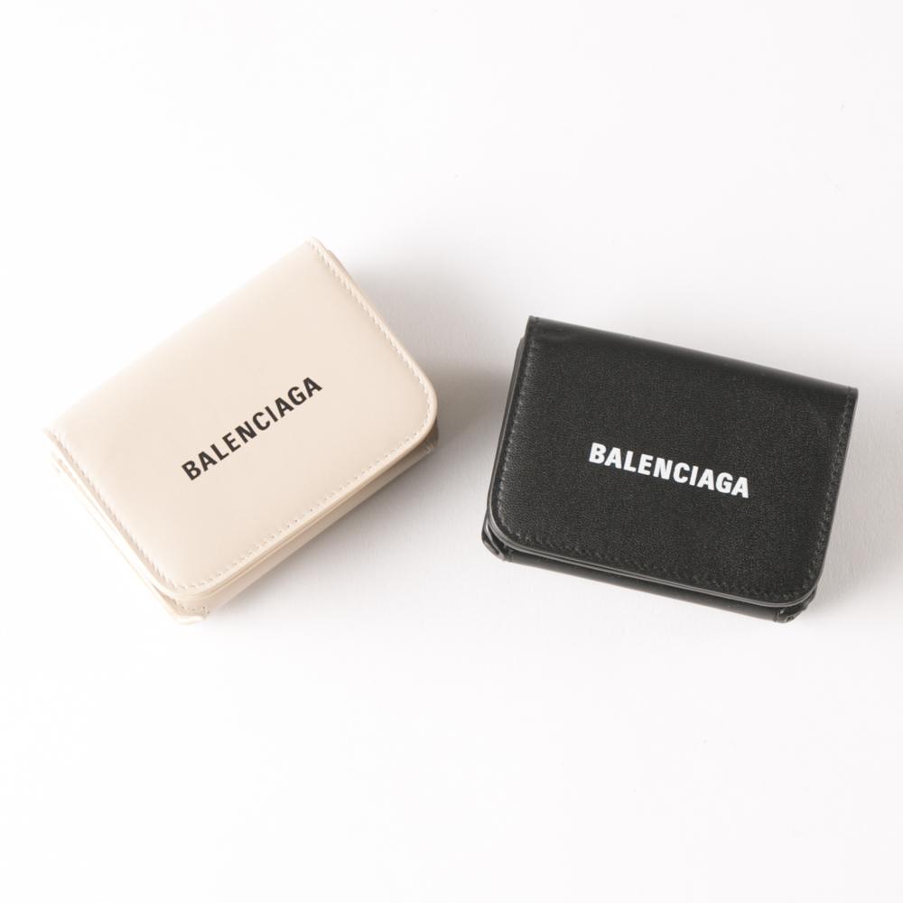 バレンシアガ BALENCIAGA 折り財布 CASHロゴフラットカーフ折TINYミニ 5938131I313  ギフトラッピング無料