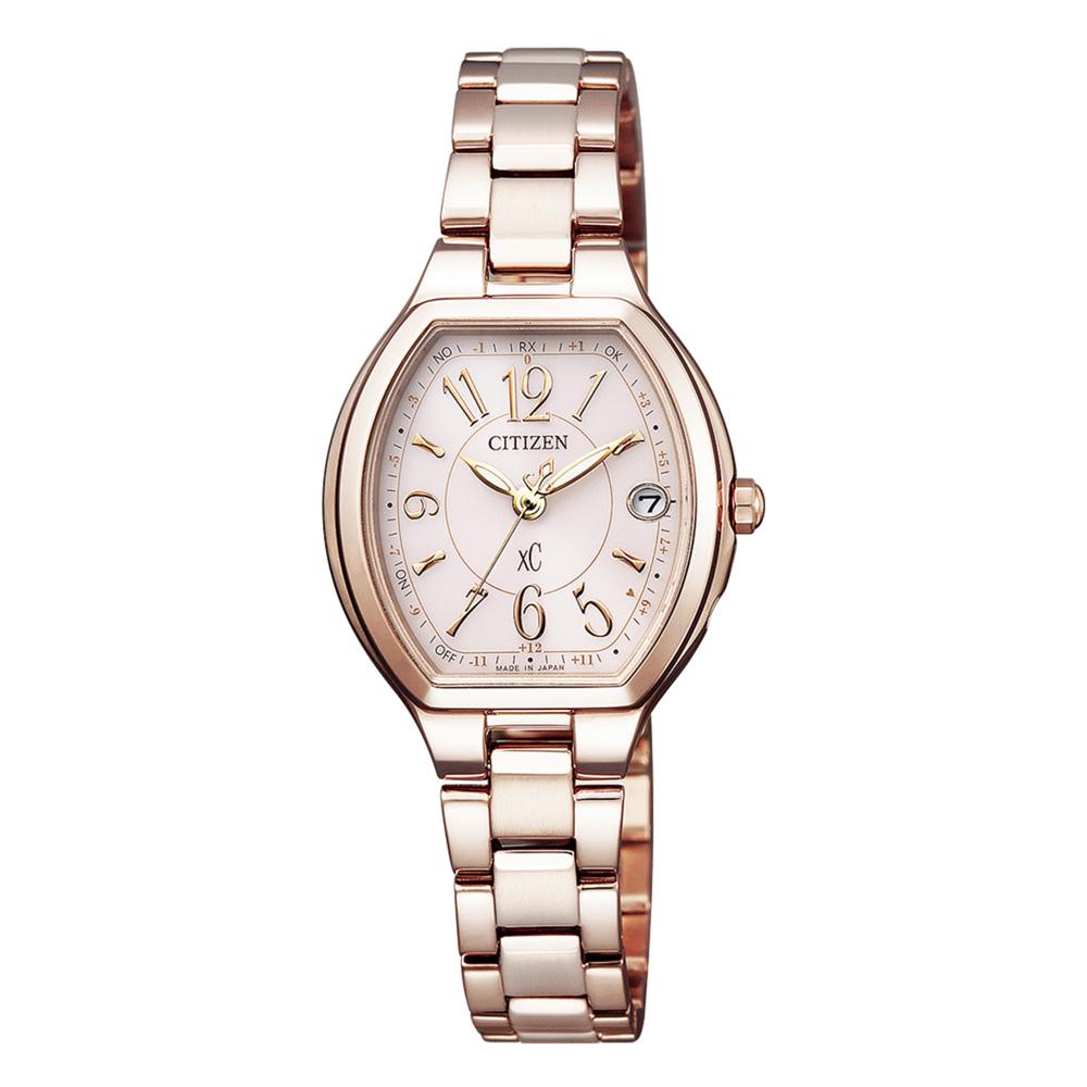 3月13日-14日限定 クーポン配布中 購買 クロスシー XC 腕時計 ギフトラッピング無料 Lウォッチ ES9365-54W Frightエコ電波SS Happy 期間限定