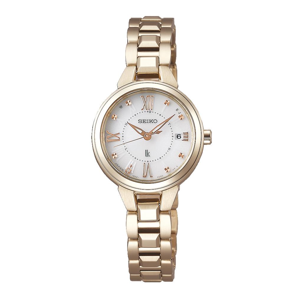 3月13日-14日限定 クーポン配布中 ルキア LUKIA 腕時計 GOLD LADY 早割クーポン ギフトラッピング無料 ソーラー電波ステンL SSVW148 特価品コーナー☆
