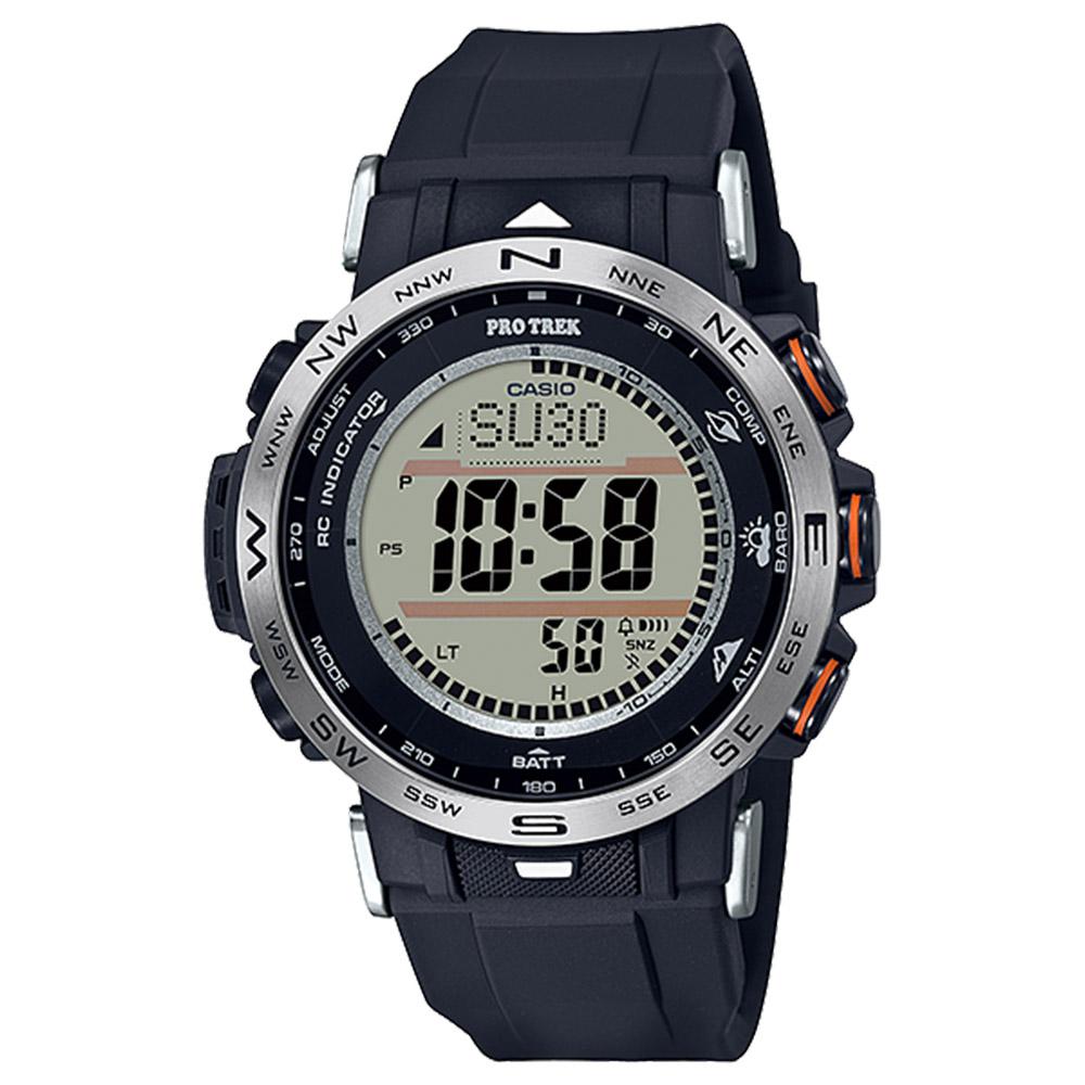 3月6日-7日限定 クーポン配布中 プロトレック 買収 PROTREK 腕時計 ギフトラッピング無料 トリプルセンサー電波ソーラー 賜物 クライマーMウォッチ PRW-30-1AJF