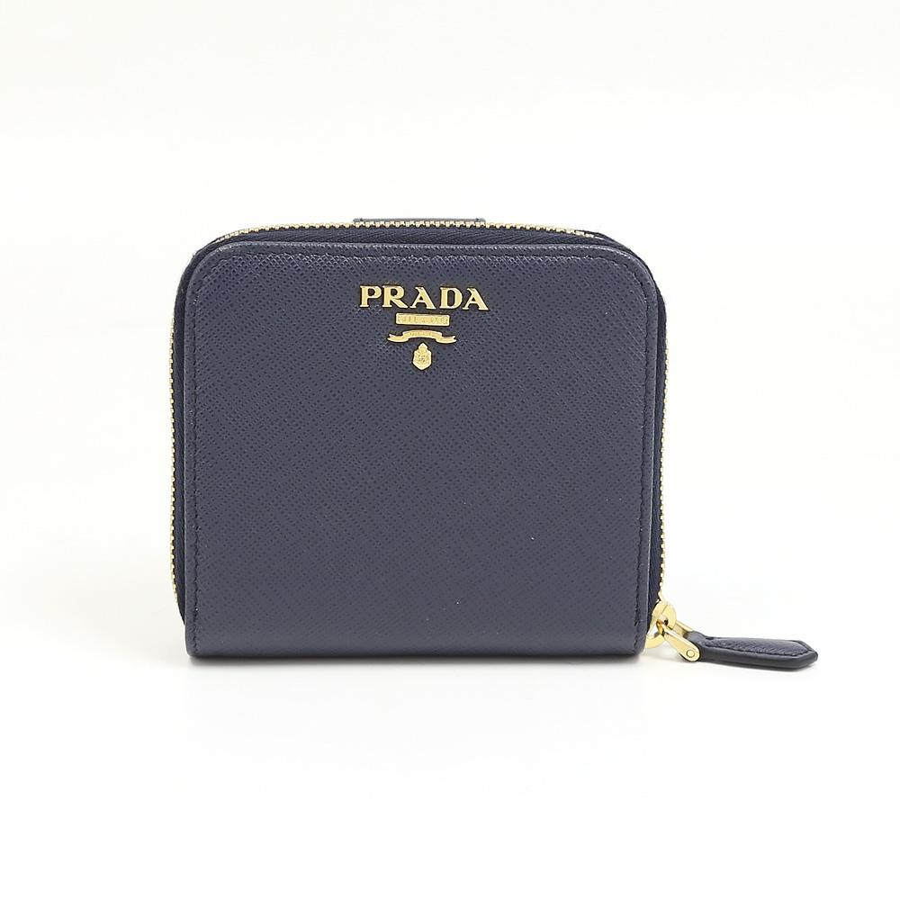 プラダ 折り財布 SAFFIANO METAL PRADA 1ML522 QWA BALTICO  ギフトラッピング無料