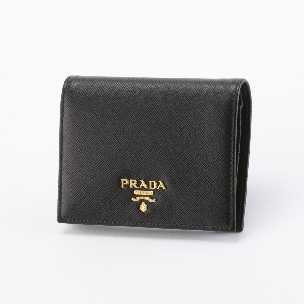 プラダ 折り財布 SAFFIANO METAL PRADA 1MV204 QWA NERO  ギフトラッピング無料