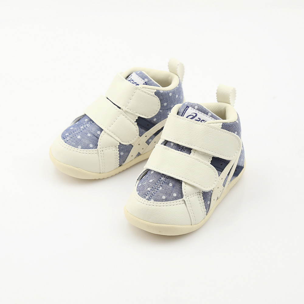 スクスク【SUKUSUKU】靴 アシックス子供靴 ファブレF FIRSTCT2 ブルー/ホワイト/天然繊維 人工皮革  ギフトラッピング無料 ラッキーシール対応