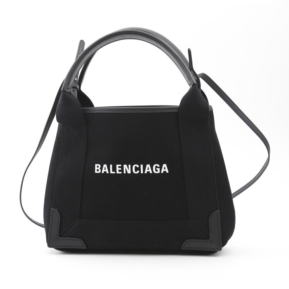 バレンシアガ BALENCIAGA トートバッグ NAVY CABAS XS AJキャンバス 390346AQ38N 1000 ブラック  ギフトラッピング無料
