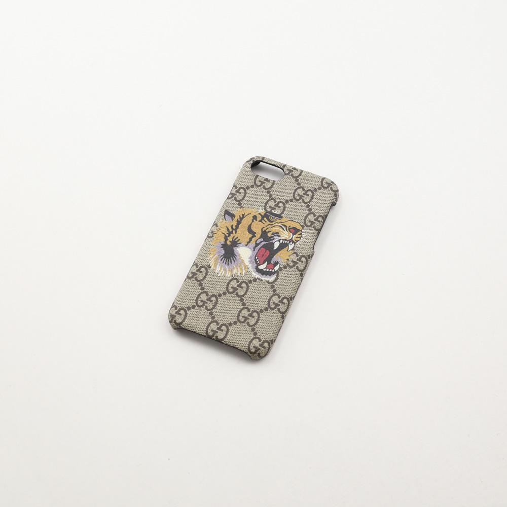 【5月4日-7日★ポイント5倍】グッチ GUCCI iphoneケース BESTIARYトラ IPHONE8 527261K5Y0N 8919/ベージュ  ギフトラッピング無料 ラッキーシール対応