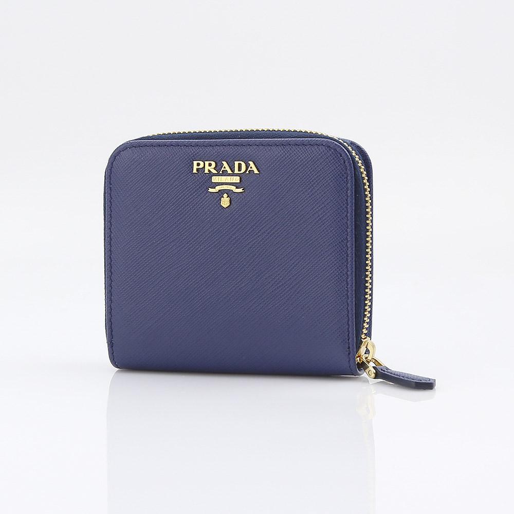 プラダ 折り財布 SAFFIANO METAL PRADA 1ML522 QWA BLUETTE  ギフトラッピング無料