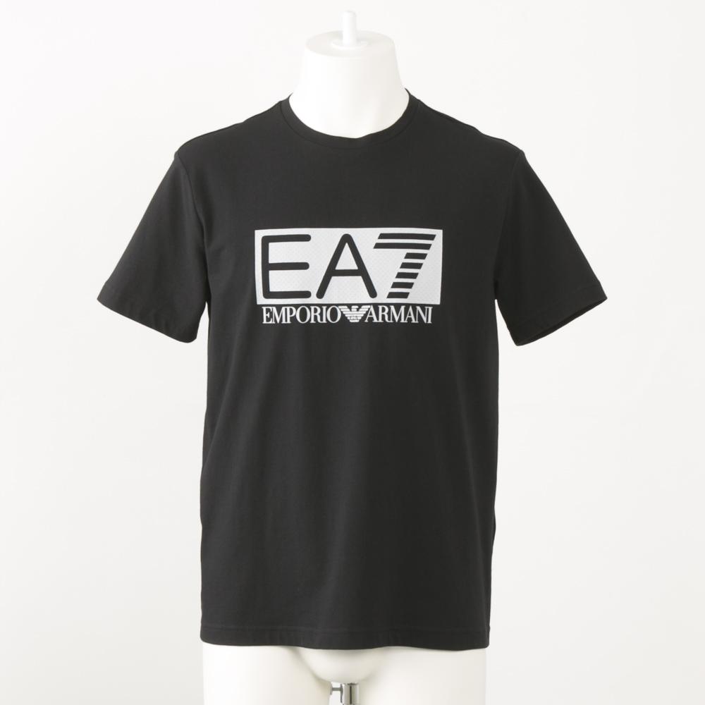 イーエーセブン EA7 アパレル トップス 胸デカロゴ丸首Tシャツ 3GPT62 PJO3Z 1200 ブラック  ギフトラッピング無料 ラッキーシール対応