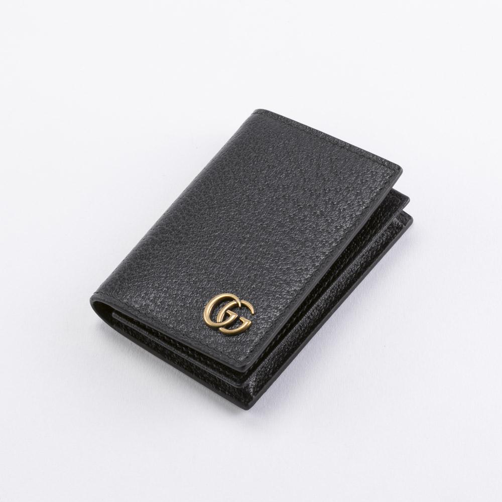 GUCCI グッチ GG MARMONTレザーカードケース 428737DJ20T/1000 ブラック  ギフトラッピング無料