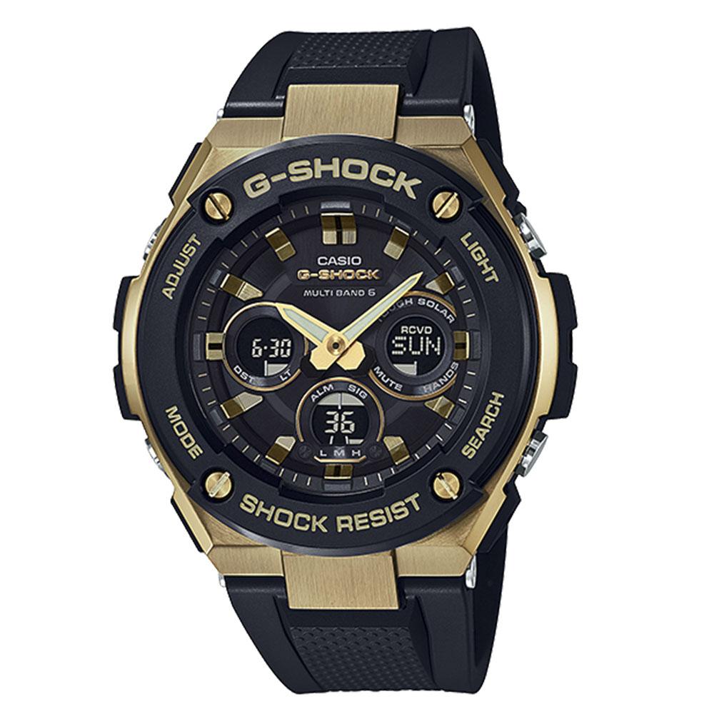 3月13日-14日限定 クーポン配布中 G-SHOCK CASIO ジーショックカシオ 卓出 メーカー公式ショップ 0 腕時計 ギフトラッピング無料 アナデジ電波ソーラー GST-W300G-1A9JF