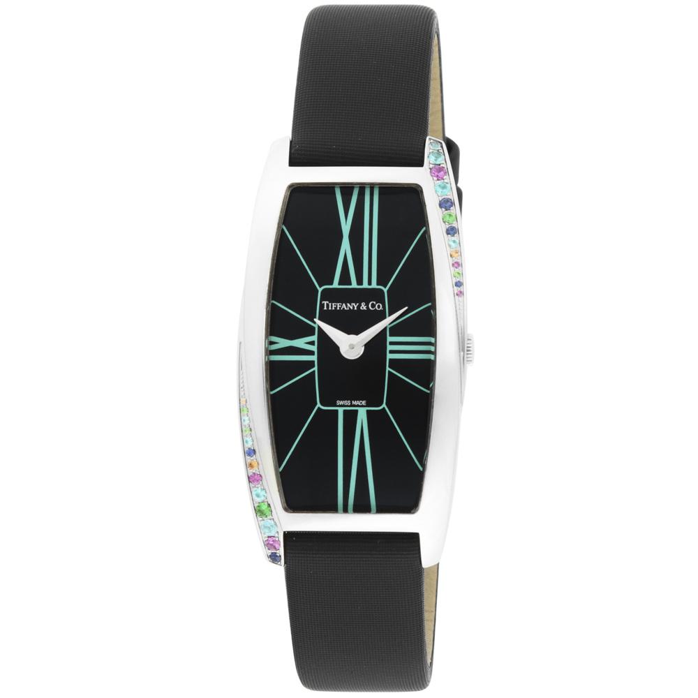 ティファニー TIFFANY 腕時計 GEMEA トノーレザークォーツLウォッチ Z64011010G19A40G/Q53 ブラック/コンビ  ギフトラッピング無料 ラッキーシール対応
