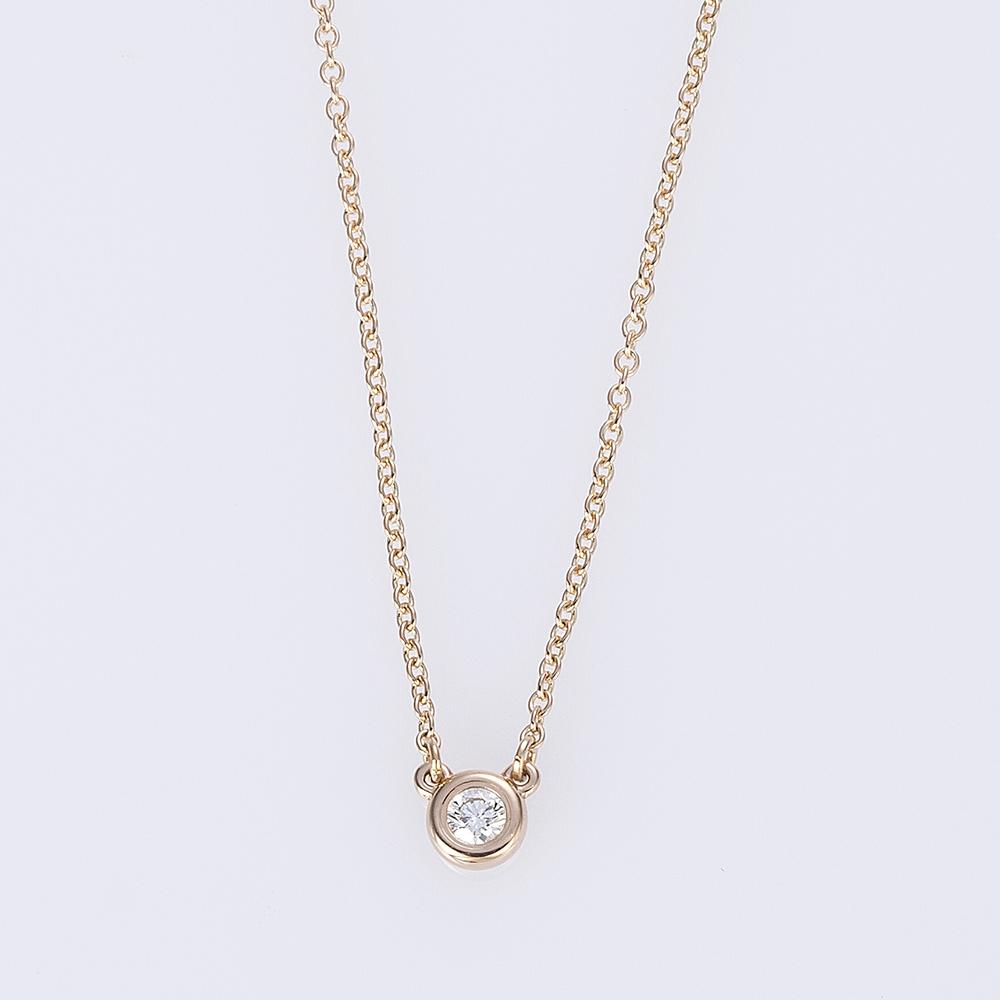 ティファニー【Tiffany & Co.】ネックレス 28274521 K18 D0.07CT ダイヤモンド バイザヤード ネックレス 0 ギフトラッピング無料