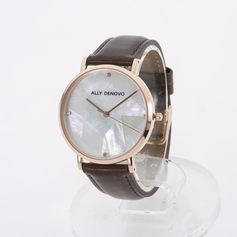 アリーデノヴォ ALLYDENOVO レディース 腕時計 Gaia Pearl 36mm レザーL AF5003.2 BR WH QZ ブラウン/コンビ 0 ギフトラッピング無料 ラッキーシール対応