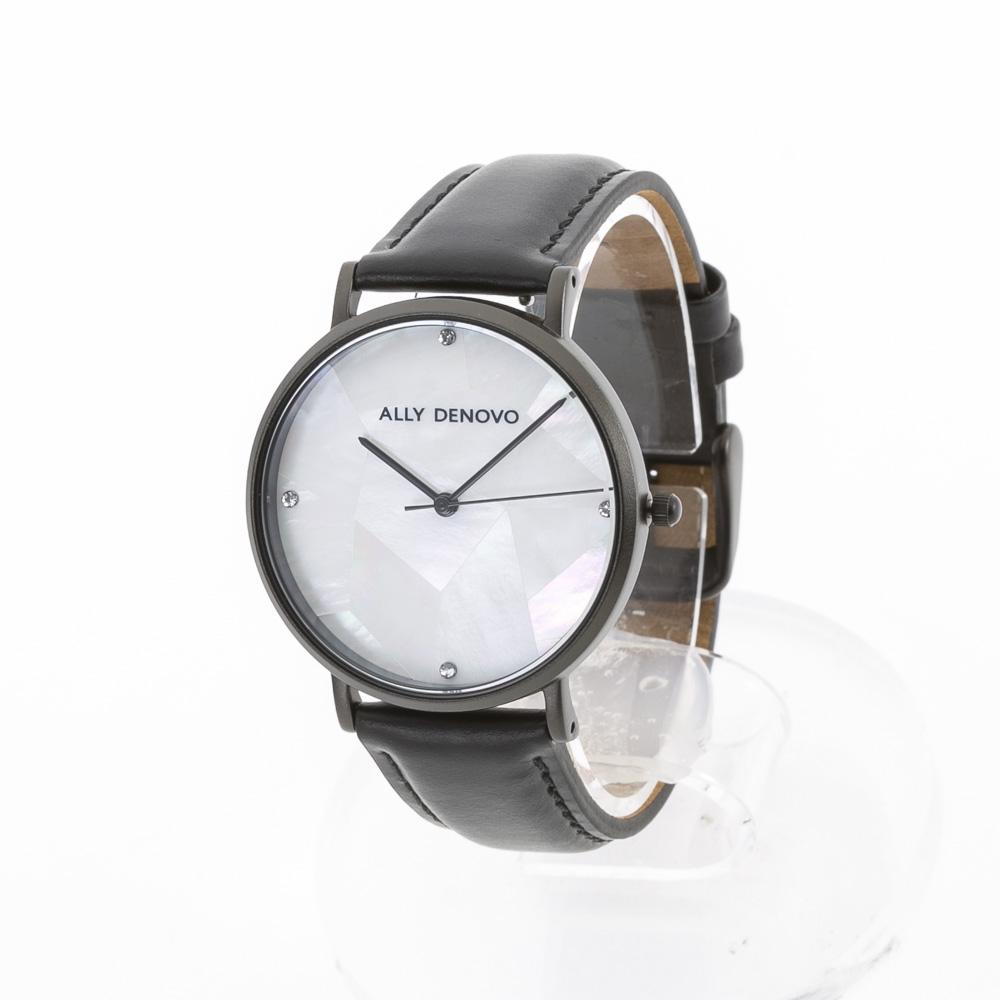 アリーデノヴォ ALLYDENOVO レディース 腕時計 Gaia Pearl 36mm レザーL AF5003.4 BK WH QZ ブラック/コンビ 0 ギフトラッピング無料 ラッキーシール対応