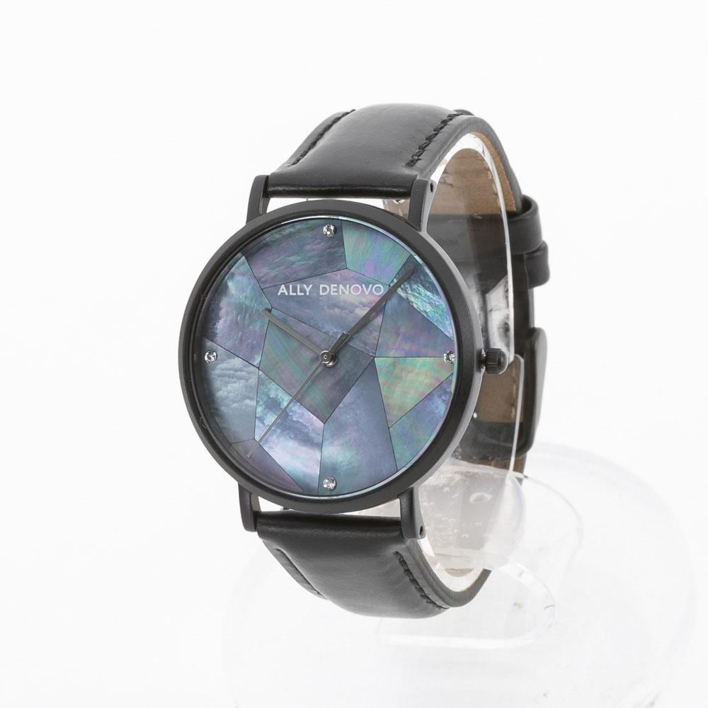 アリーデノヴォ ALLYDENOVO レディース 腕時計 Gaia Pearl 36mm レザーL AF5003.5 BK BK QZ ブラック/コンビ 0 ギフトラッピング無料 ラッキーシール対応