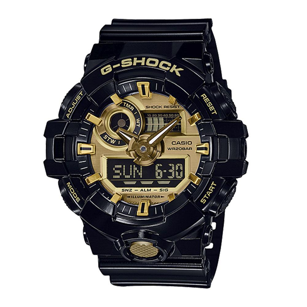 ジーショックカシオ G-SHOCK CASIO 腕時計 700シリーズ アナデジMウォッチ GA-710GB-1AJF ブラック/ゴールド 0 ギフトラッピング無料 ラッキーシール対応