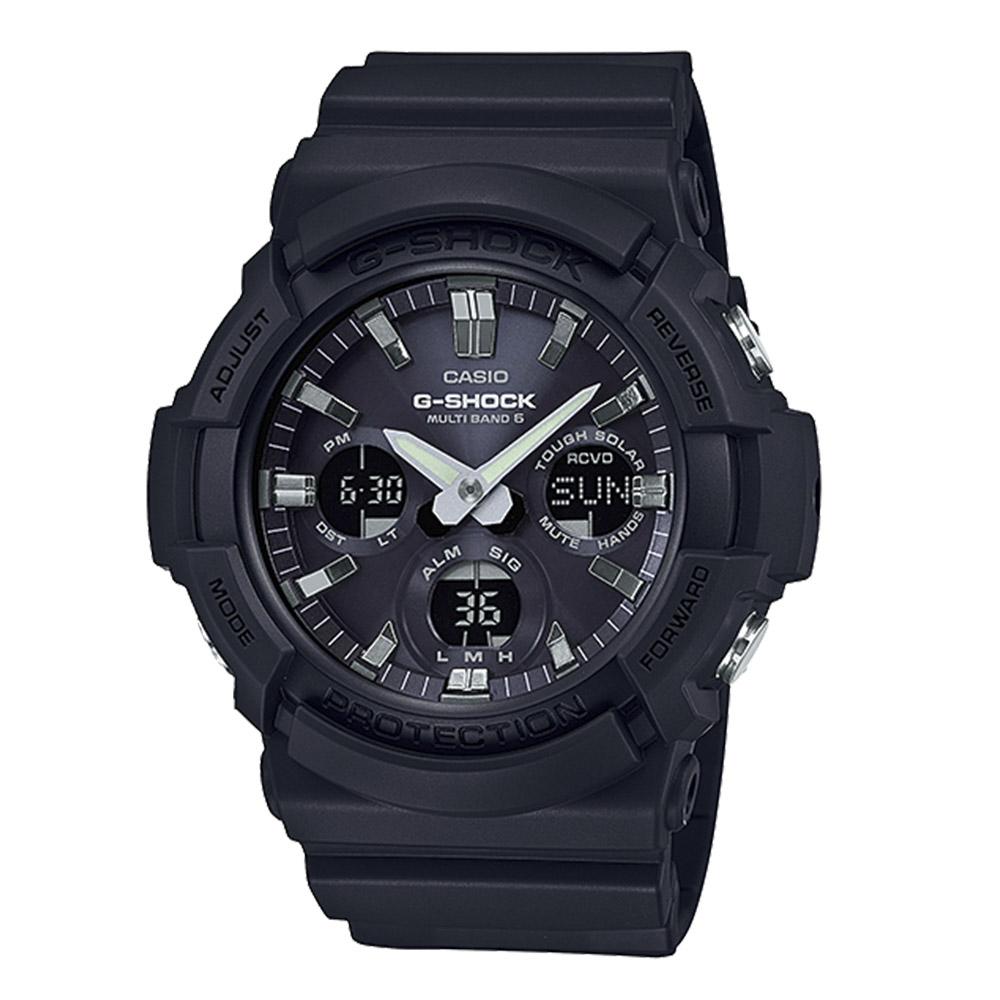 ジーショックカシオ G-SHOCK CASIO 腕時計 Sマルチバンド6アナデジ電波ソーラーM GAW-100B-1AJF ブラック 0 ギフトラッピング無料 ラッキーシール対応