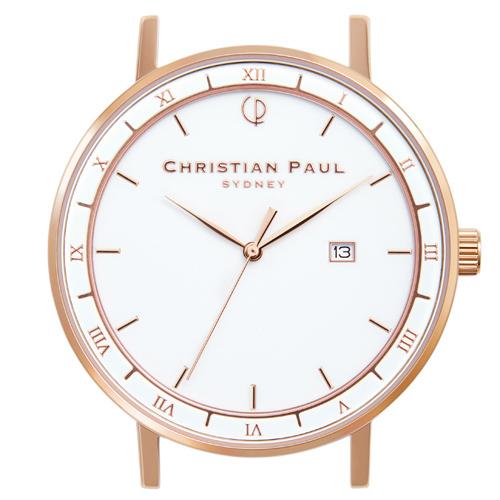 クリスチャンポール Christian Paul 腕時計ヘッド ALPHA 43mm L ベルト別売 ALP-WHIRG43 QZ ホワイト 0 ギフトラッピング無料 ラッキーシール対応