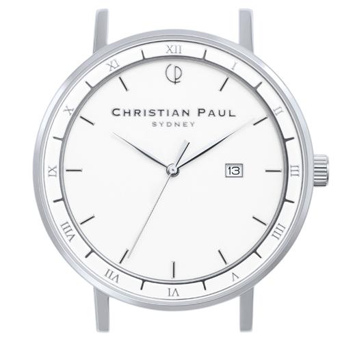 クリスチャンポール Christian Paul 腕時計ヘッド ALPHA 43mm L ベルト別売 ALP-WHISIL43 QZ ホワイト 0 ギフトラッピング無料 ラッキーシール対応