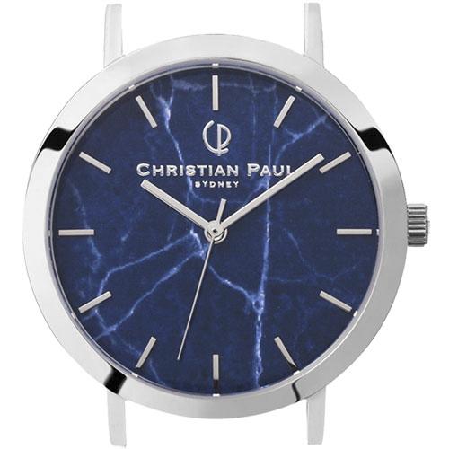 クリスチャンポール Christian Paul 腕時計ヘッド MARBLE 43mm L ベルト別売 MAR-NVY-SIL-43 QZ ネイビーブルー 0 ギフトラッピング無料 ラッキーシール対応