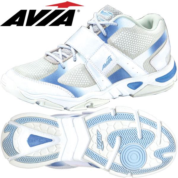 アヴィア A1469W WSB ホワイト×サックスブルー (22.5~28.0cm/レディース メンズ)【19SS08】 [AVIA] フィットネスシューズ エアロ