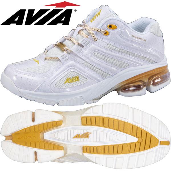 アヴィア A6812W WGD ホワイト×ゴールド(22.5~28.0cm/レディース メンズ)【19SS05】 [AVIA] フィットネスシューズ エアロ