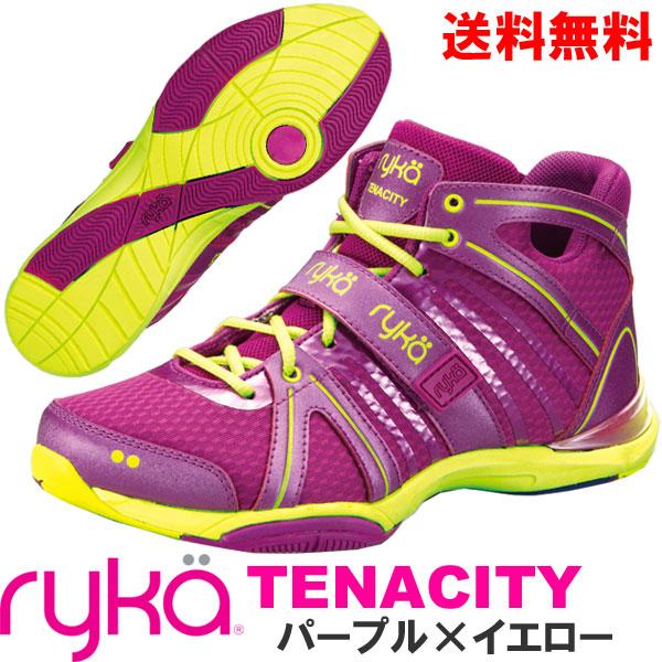 [RYKA]ライカ フィットネス TENACITY 〔パープル×イエロー〕 C8149M-C500(22.0~28.0cm/レディース/メンズ)<テナシティー>【ダンスシューズ】【17FW09】【正規品】